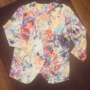 Mona Leah Couture Mesh Open Front Jacket
